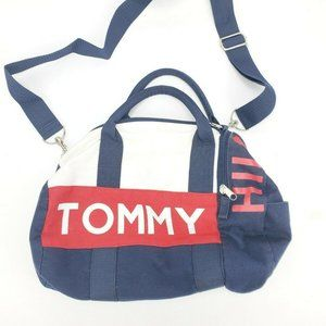 Tommy Hilfiger Big Flag Logo Spell Out Blue Cotton